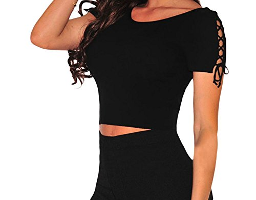christmas-dh-ms-dress-womens-ribbed-lace-up-sleeves-crop-top-black-m