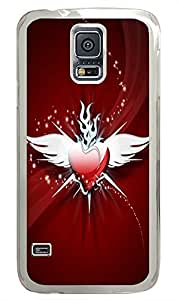 cool Samsung S5 cover Angel Heart PC Transparent Custom Samsung Galaxy S5 Case Cover
