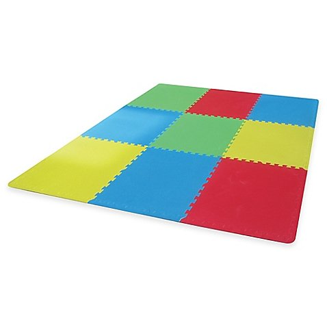 Verdes Jumbo 9-Piece Foam Play Mat, MULTI (Piece Jumbo 9)