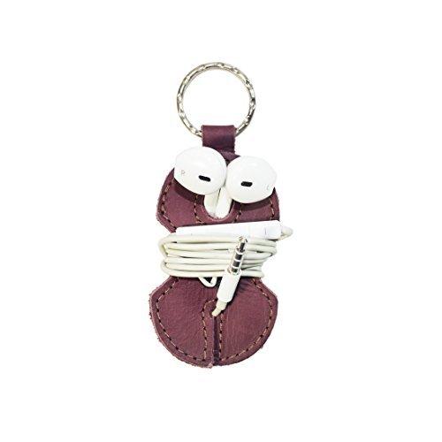 Leather Key Chain & Headphone Wrap Handmade by Hide & Drink :: Lavender