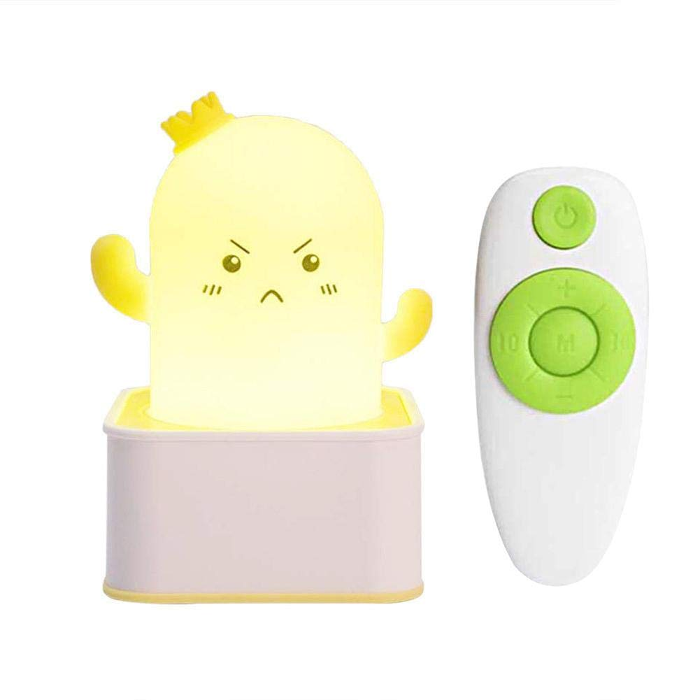 Shantan Silicone Cactus Night Light Rechargeable led Table lamp Desk Remote Controller Children Baby Bedroom Decoration Kids Cute Colorful Chidren Decor Lovely Toddler Bedside Birthday Gift Portable