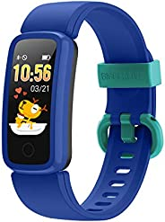 BIGGERFIVE Fitness Tracker Watch for Kids Girls Boys Teens, Activity Tracker, Pedometer, Heart Rate Sleep Moni
