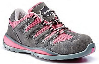 Women's Pink Suede Safety Trainers