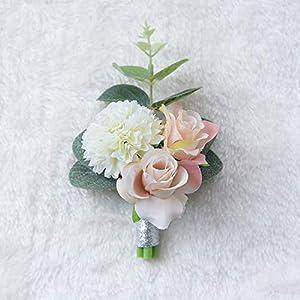 Balalei Wedding Prom Boutonniere Flower Brooch Hand Corsage Witness Boutonniere Groom Bridesmaid Groomsmen Wrist Flowers FE40 43