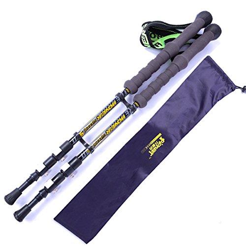 QAR Sperren Im Freien Kohlestab Mit Einem Leichten Paket Stöcken Trekkingstock (Farbe   SCHWARZ)