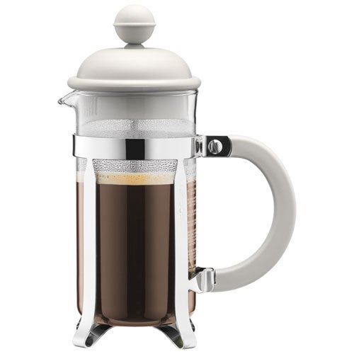 BODUM Caffettiera 3 Cup French Press Coffee Maker, White, 0.35 l, 12 oz 1913-913