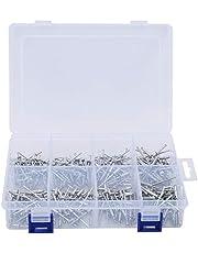 320 stuks blinde klinknagels, 4 maten aluminium popnagels hardware assortiment kit set, voor de bouw, auto's, schepen, enz