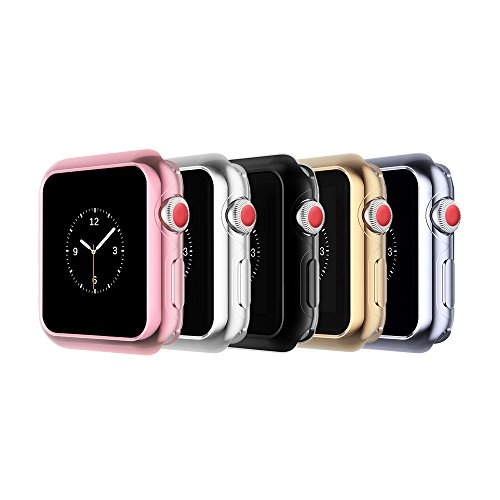 top4cus Protector Case for Apple Watch, Scratch-resistant Flexible Soft TPU Lightweight Plated apple watch case for iWatch All Series by top4cus