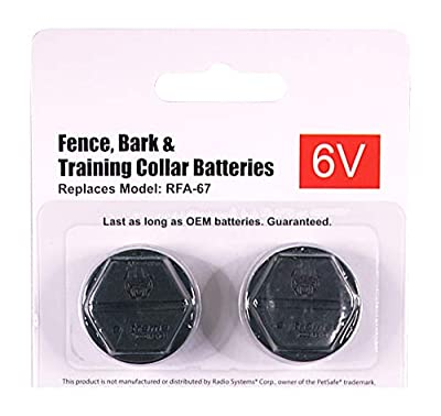 Extreme Dog Fence Replacement Battery for All Fence Collars That Use Model RFA-67