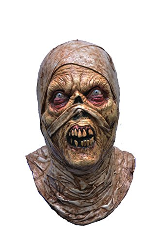 Evil Mummy Undead Scary Zombie Latex Adult Halloween Costume Mask (Hockey Mask Halloween Costume)