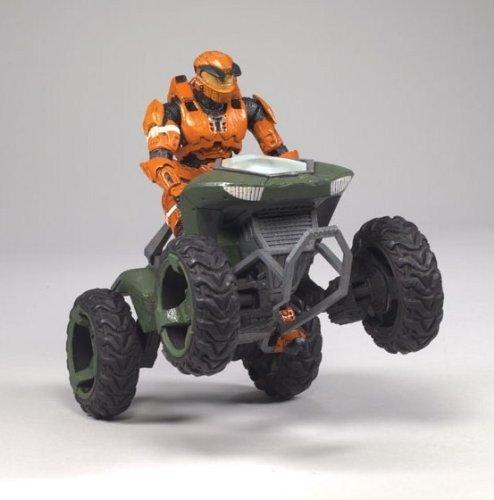 McFarlane Toys Halo Deluxe Box Set - Mongoose Vehicle with Spartan Soldier Mark V Orange - Halo Deluxe Box Set