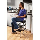 Cosco Black Retro Counter Chair/Step Stool