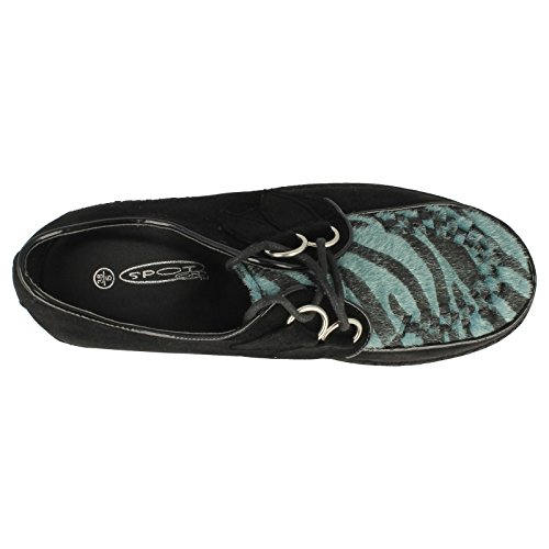 Spot On , Damen Sandalen Blue Zebra