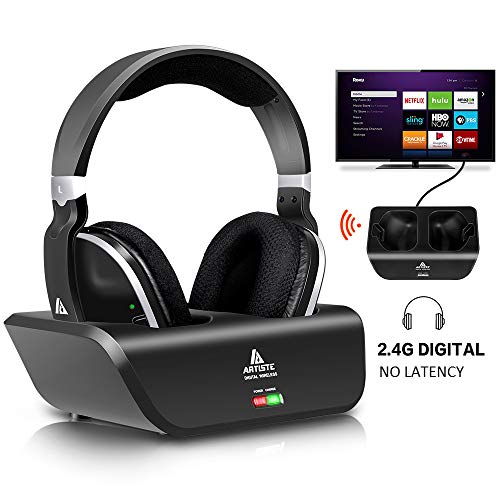 Wireless Headphones for TV with RF Transmitter