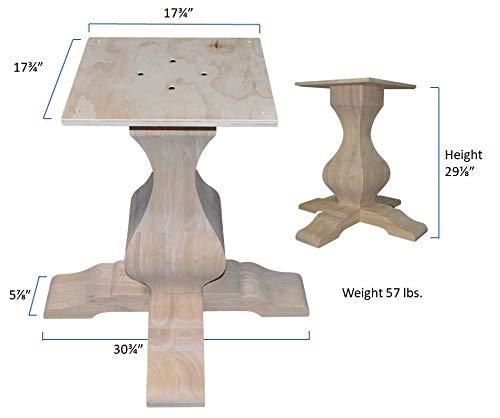 "BingLTD - 29 1/8"" Tall Miller Square Pedestal Table Base (PD-SQ2901-RW-UNF)"