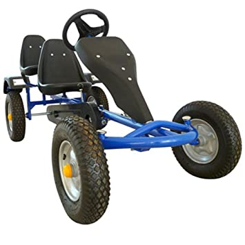 Go Kart Gokart Pedal 2 Seater Outdoor Toy Racing Fun Blue
