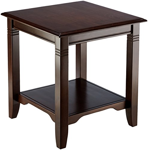 Muse Home Wood End Table - Dark Mahogany (Mahogany Square Side Table)
