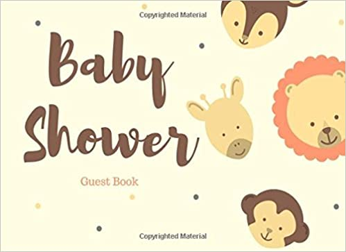 Baby Shower Guest Book Baby Animals For Girl Or Boy Guest Book