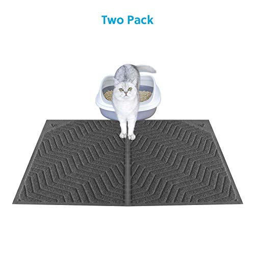 WePet Cat Litter Mat, Kitty Litter Trapping Mat, Large Size, Premium Durable Soft PVC Rug, No Phthalate, Urine…