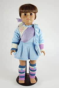 Unique Doll Clothing Winter Ice Skating Outfit for 18 Inch Dolls Including the American Girl Line