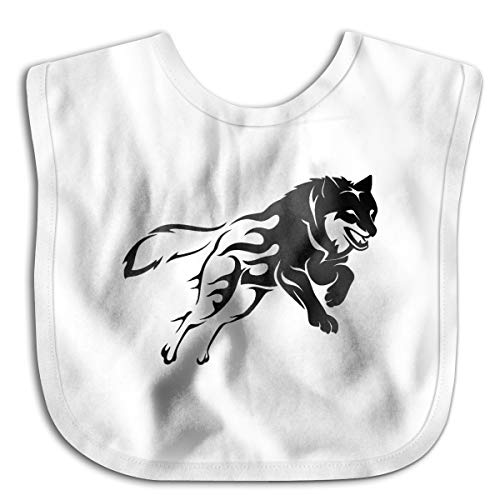 Express Yourself Wolf Funny Baby Bibs Burp Infant Cloths Drool Toddler Teething Soft -