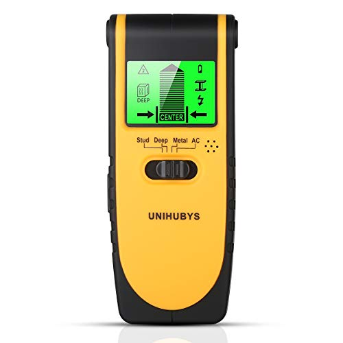 Stud Finder Wall Scanner-Digital LCD Display Multi Function Stud Finder for Detecting Studs//Wood/Metal/Wires,4 Scanning Modes, Visual & Sound Warning, Automatic Calibration for Home & Construction -