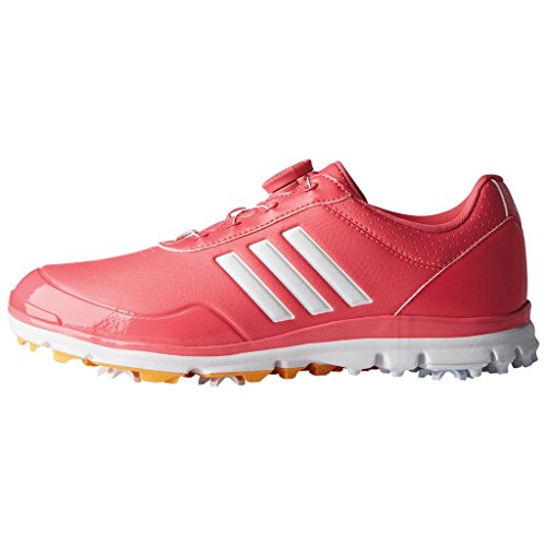 (adidas Golf 2018 Ladies Adistar Lite BOA WoLadies Waterproof Golf Shoes - Spiked Pink/White/Gold 4UK)