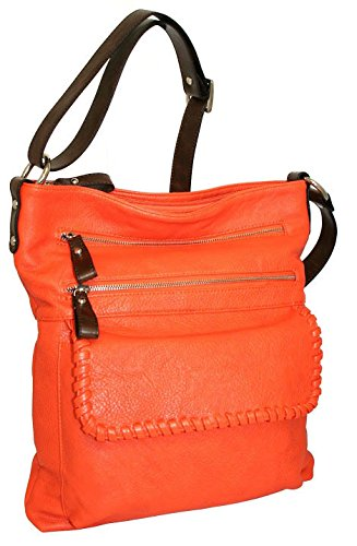 punto-uno-multi-pocket-crossbody-bag-with-leather-lacing-detail-orange