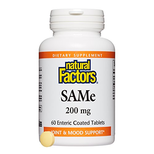 Natural Factors - SAMe 200mg, Joint & Mood Support, 60 Enteric Coated Tablets