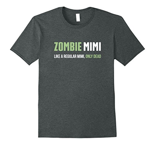Simple Mime Costume For Men (Mens Zombie Mimi Shirt, Funny Cute Halloween Gift 3XL Dark Heather)