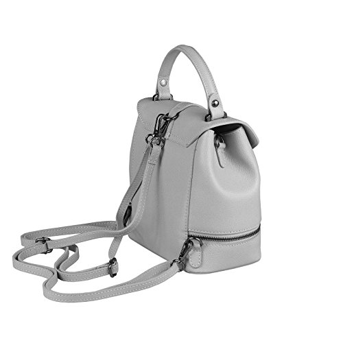 OBC Only-Beautiful-Couture - Bolso mochila para mujer gris gris claro ca.: 22x23x12 cm (BxHxT) gris claro