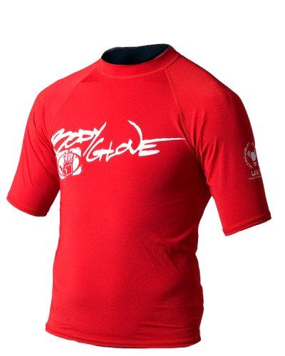- Body Glove Short Arm Lycra Rash Guard Shirt (Red, Small)