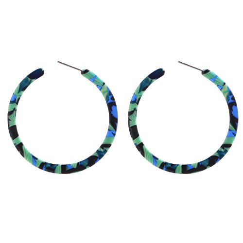 BaubleStar Tortoise Shell Resin Hoop Earrings Acrylic Round Circle Dangle Amber Ear Drops Fashion Jewelry for Women Girls B0106G