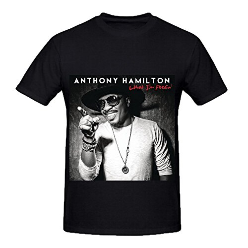 Anthony Hamilton What I'm Feelin Mens O Neck Graphic T Shirt Black Anthony Graphic T-shirt