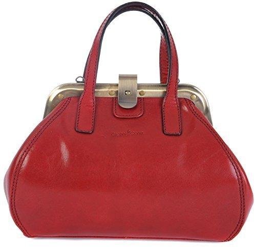 Gianni Conti 903882 - Bolso de asas para mujer Rojo rojo mediano