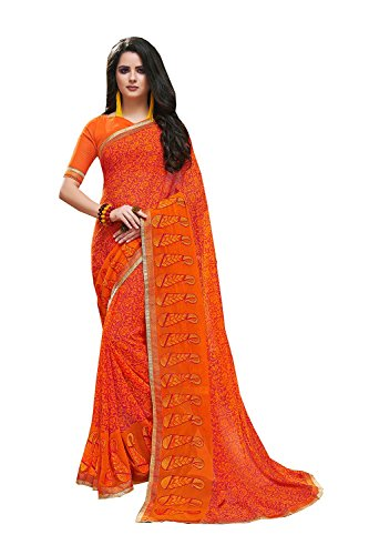 Indian Sarees For Women Wedding Orange Designer Party Wear Traditional Sari by Dessa Collections