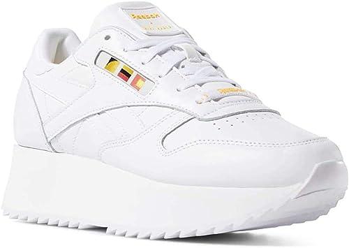 Reebok Classic Leather Double Damen Sneaker Weiß: