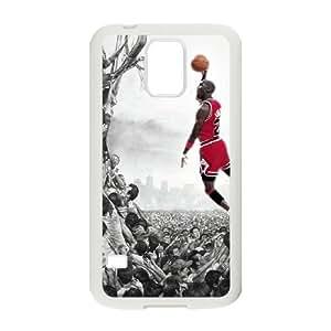 Samsung Galaxy S5 cubiertas blancas Micheal Jordan protector DIY Phone Case B8G3MY