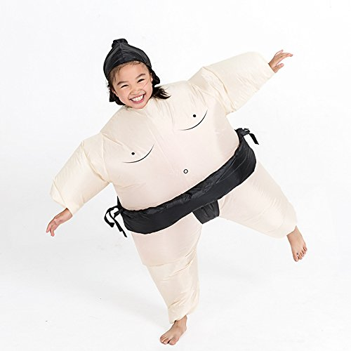 (Max Fun Inflatable Sumo Wrestler Unisex Fancy Dress Costume Halloween Outfit for Adults Child (Sumo for)
