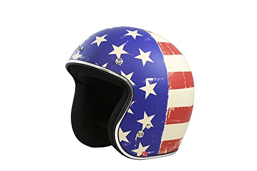 TORC (T50 Route 66) 3/4 Motorcycle Helmet with Graphic (Old Glory)