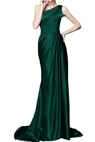 Damen Ivydressing Lang Promkleid Ein Schleppe Schulter Ballkleider Dunkelgruen Abendkleider BgZnqwBC