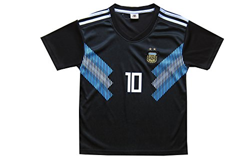 62ae5a708 KID BOX 2018 Argentina Lionel Messi  10 Away Soccer Kids Jersey   Short Set  Youth