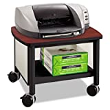 Impromptu Under Table Printer Stand, 20-1/2w x 16-1/2d x 14-1/2h, Black/Cherry, Sold as 1 Each