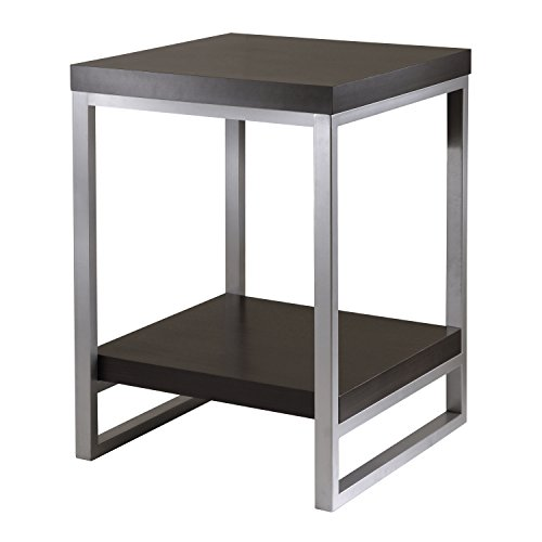 winsome wood jared end table espresso finish