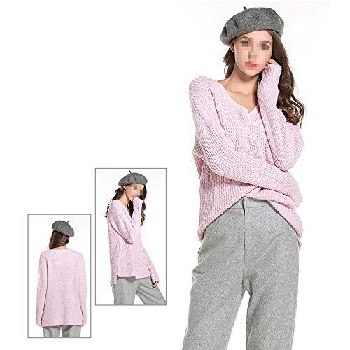maglioni Maglia Maglioni Invernali E Xyujie Donna Donna Donna Pink maglioni top Di Bluse Da Eleganti SBS1pwqY