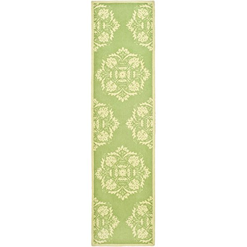 Safavieh Chelsea Collection HK359B Hand-Hooked Green and Beige Premium Wool Area Rug (2'6