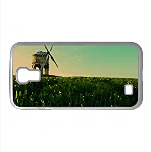 Old Windmill Watercolor style Cover Samsung Galaxy S4 I9500 Case (Summer Watercolor style Cover Samsung Galaxy S4 I9500 Case)