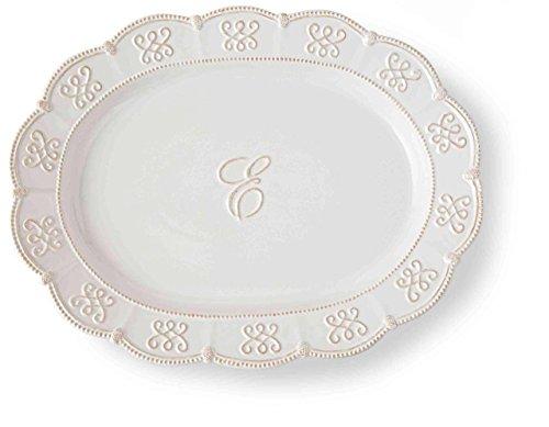 Mud Pie Ceramic Serving Platter Monogrammed