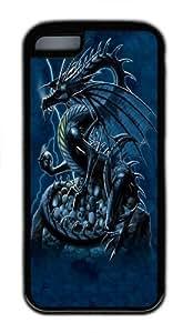 iPhone 5C Case, iPhone 5C Cases -Skull Dragon TPU Custom iPhone 5C Case Cover Black