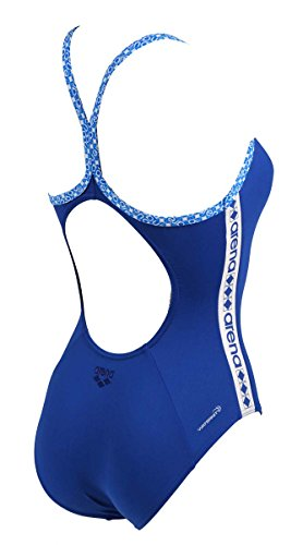 Arena Women's W Diamonds One Piece Stripe Light Drop, Pix Blue/White, Size 26